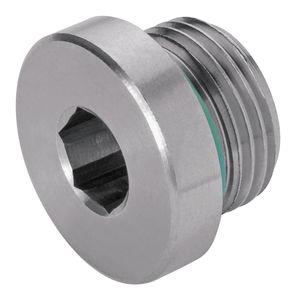 tappo rotondo / a testa esagonale / filettato / in acciaio inox