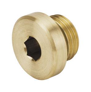tappo cilindrico / a testa esagonale / filettato / in ottone