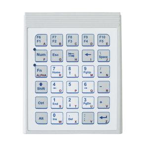 tastiera numerica 32 tasti / ad incastro / in policarbonato / OEM