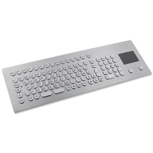 tastiera ad incastro / 105 tasti / con touchpad / in acciaio inossidabile
