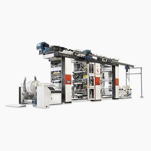 macchina da stampa flessografica in linea / a 6 colori / a 4 colori / per carta
