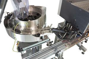 sistema di smistamento rotativo / automatico / per tappi
