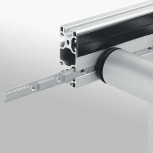 profilo in alluminio / in acciaio zincato / in acciaio inossidabile / con scanalature