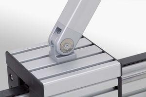 cerniera in acciaio zincato / in alluminio / in zinco / per profilati in alluminio