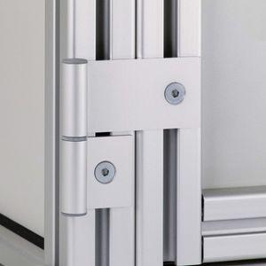 cerniera in alluminio / 270° / regolabile / di piccole dimensioni