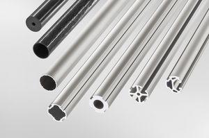 profilo in alluminio / rotondo / tubolare / 45°