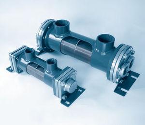 scambiatore di calore a fascio tubiero / acqua-olio / ad uso industriale