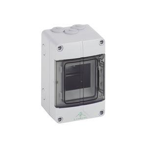 scatola elettrica per distribuzione elettrica / modulare / in polistirene / con sportello trasparente