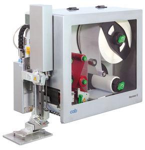 macchina da stampa e posa di etichette a trasferimento termico