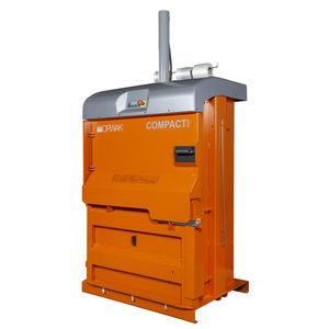 pressa imballatrice a camera verticale / a carico frontale / per cartone / per plastica