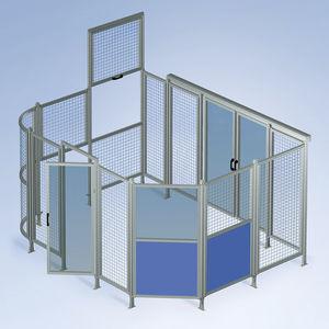 divisorio di protezione macchina / in rete metallica / elastico / in alluminio