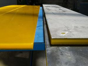 lamiera di acciaio / rivestito in poliuretano