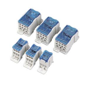 morsetto componibile con connessione a vite / su guida DIN / per binario elettrificato / bipolare