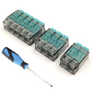 morsetto componibile push-in / senza viti / a molla / con connessione rapida