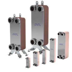scambiatore di calore a piastre saldo brasate / liquido/liquido / in acciaio inossidabile / compatto