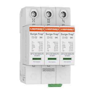 limitatore di sovratensione per impianto fotovoltaico / di tipo 2 / multipolare / su guida DIN