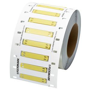 etichetta a trasferimento termico / in PUR / di cavi / per marcatura cavi