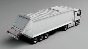 semirimorchio a 3 assi / per rifiuti / per contenitore / idraulico