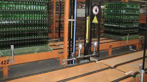sistema di trasporto per pallet / per bottiglie di vetro / per contenitori in vetro