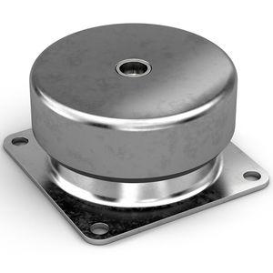supporto antivibrazione cilindrico / in metallo / in silicone / in gomma