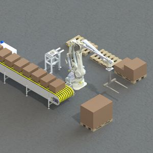 cella robotizzata di pallettizzazione