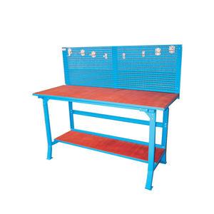 banco da lavoro in legno / con parete porta attrezzi