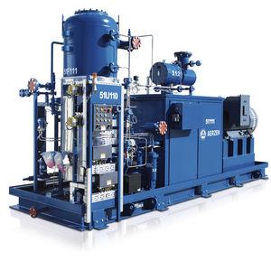 gruppo compressore d'aria / a vite / per tecnologie di refrigerazione / a iniezione di olio