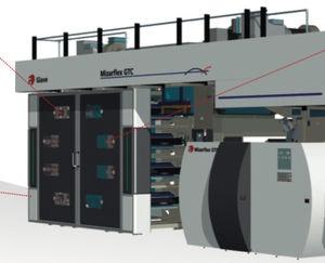 macchina da stampa flessografica stack