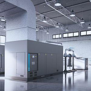 compressore d'aria / fisso / centrifugo / senza olio