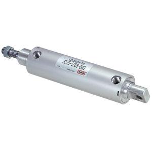 cilindro a doppio effetto / pneumatico / con gambo filettato / in acciaio inossidabile