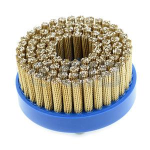 spazzola a disco / di finitura / di sbavatura / in filo metallico
