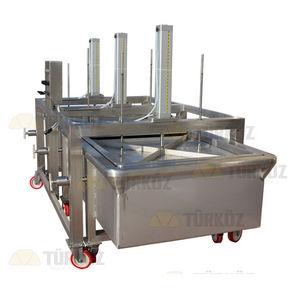 pressa per formaggio verticale / pneumatica / a pasta dura / in acciaio inossidabile