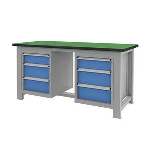 tavolo di lavoro con cassetti