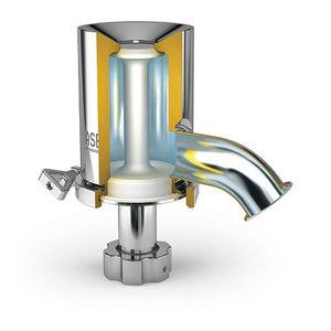 valvola a membrana radiale / di regolazione della temperatura / per macchina di saldatura / con raccordo a morsetto