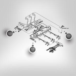 sistema di trasporto pneumatico per derrate alimentari