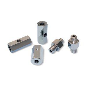 adattatore per vuoto / filettato / in ottone / in acciaio galvanizzato
