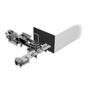 linea di estrusione film soffiato / da compounding / per termoplastici / compatta