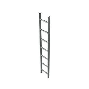 scala da appoggio in acciaio galvanizzato