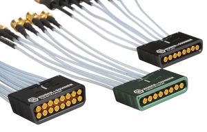 connettore combinato / multicoassiale / DIN / SMT