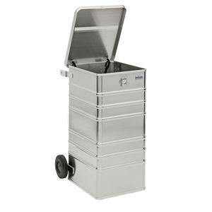 contenitore per rifiuti in alluminio
