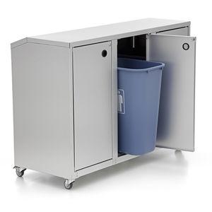 contenitore per rifiuti in alluminio / per rifiuti domestici / per rifiuti urbani / per rifiuti sanitari