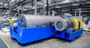 decanter per riciclaggio di plastica / centrifugo / orizzontale