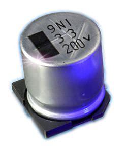 condensatore elettrolitico / in alluminio / per circuito stampato