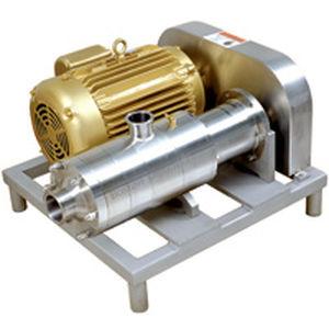 omogeneizzatore a rotore-statore / su linea / liquido/solido / per l'industria agroalimentare