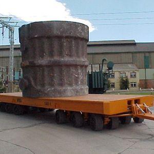 rimorchio su 6 assi / per attrezzatura industriale / in piano / per movimentazione di carichi pesanti