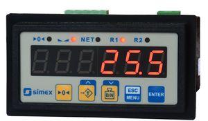 indicatore di peso con display LED / ad incastro / IP65 / per bilancia a piattaforma