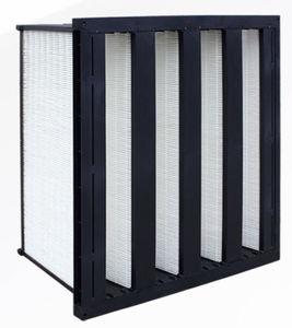 filtro ad aria / in pannelli / a V / per alta temperatura