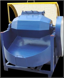 macchina di burattatura a tamburo rotante