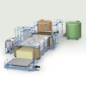 linea di produzione di blocchi di schiuma morbida in PUR