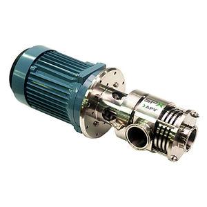 miscelatore a rotore-statore / su linea / per liquidi / per prodotti lattiero-caseari